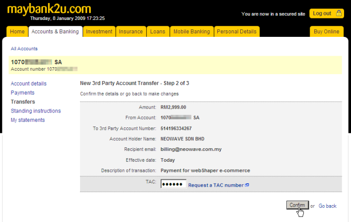 how to change mobile number in maybank2u