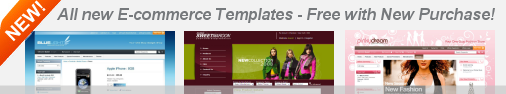 New E-commerce Templates Comes Free with webShaper e-commerce!