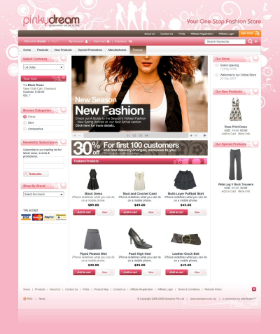 nice ecommece shopping cart template